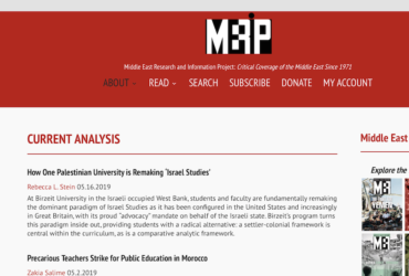Middle East Research and Information Project: Critical Coverage of the Middle East Since 1971