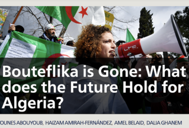 """Vídeo xerrada """"Bouteflika is Gone: What does the Future Hold for Algeria?"""""""